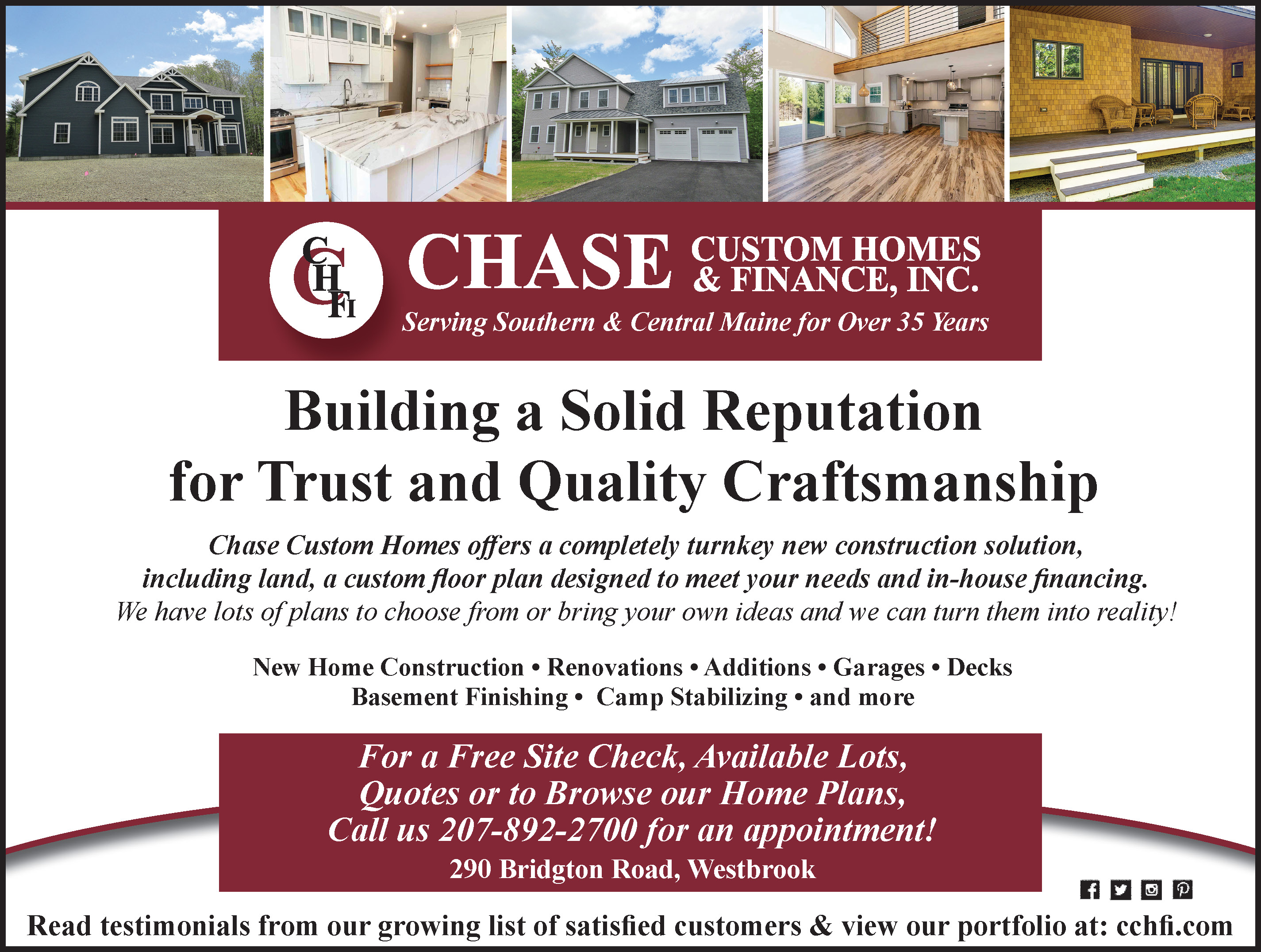 https://www.facebook.com/ChaseCustomHomes/