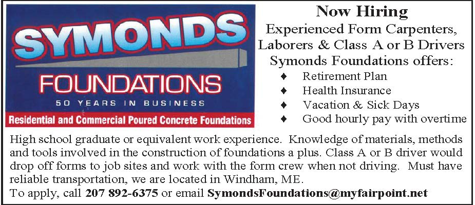 SymondsFoundations@myfairpoint.net